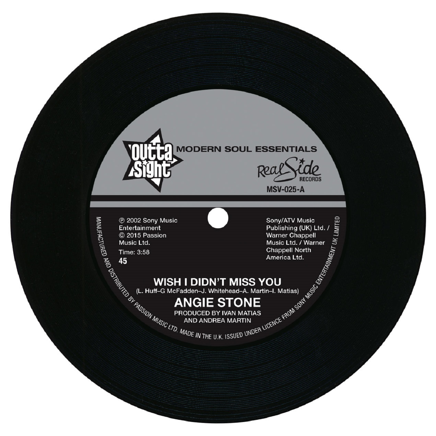 Angie Stone – Wish I Didn't Miss You / (Hex Hector Remix) 45 (Outta Sight) 7″ Vinyl