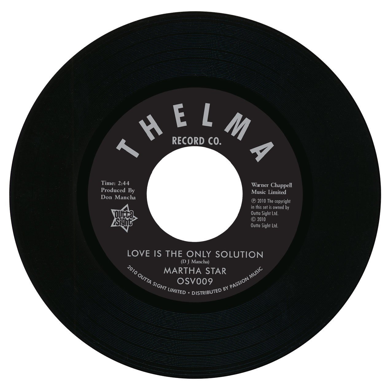 Love Is The Only Solution / No Part Time Love For Me 7″-0