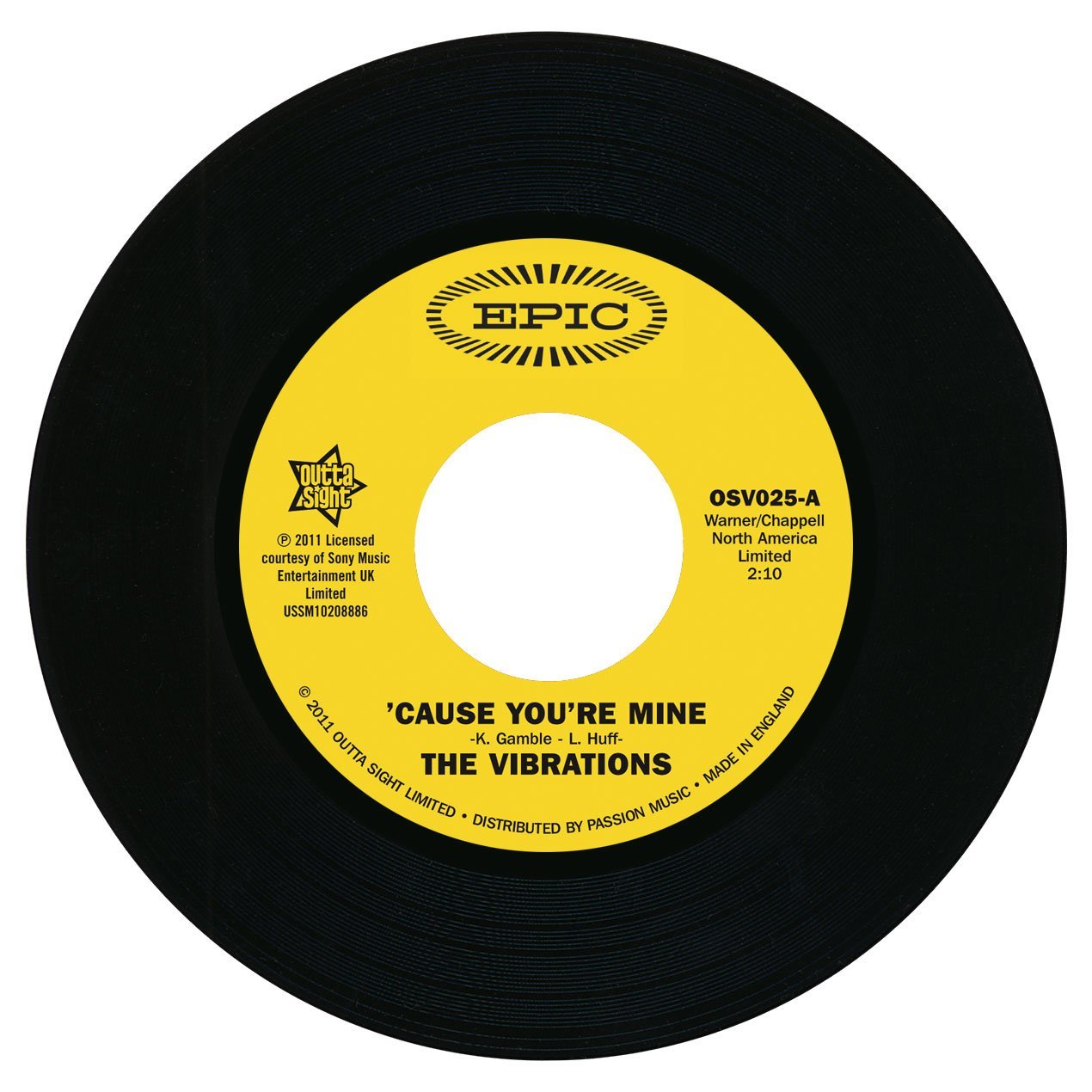 Vibrations – Cause You're Mine / Follow Your Heart 45 (Outta Sight) 7″ Vinyl