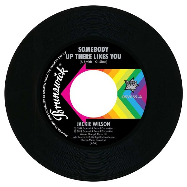 """Somebody Up There Likes You / A Lovely Way To Die 7""""-0"""