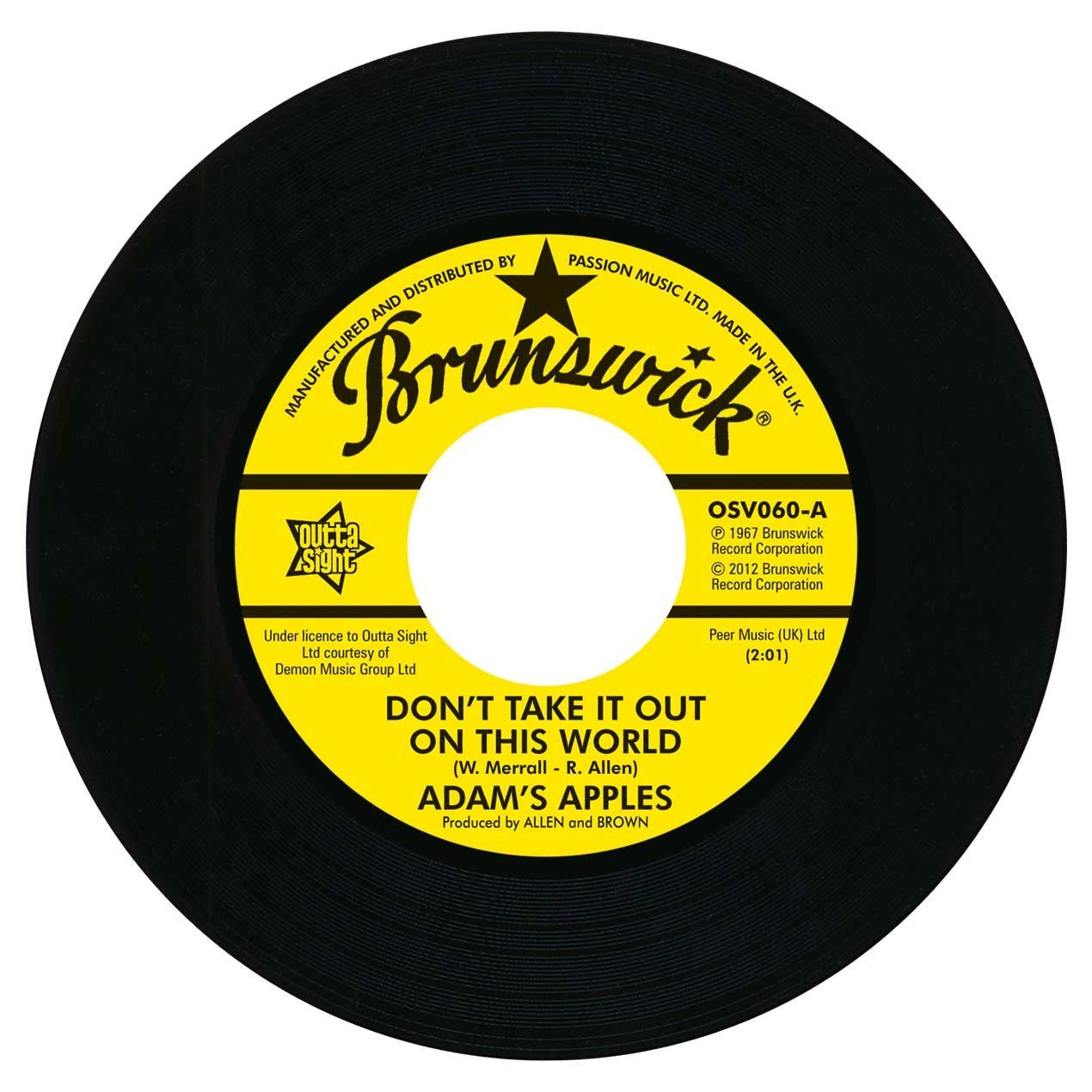 Don't Take It Out On This World / You Are The One I Love 7″-0