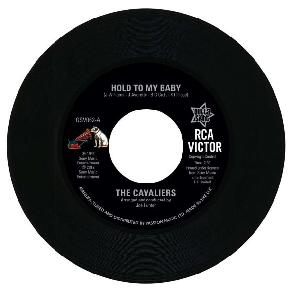 """The Cavaliers - Hold To My Baby / Ooh It Hurts Me 45 (Outta Sight) 7"""" Vinyl"""