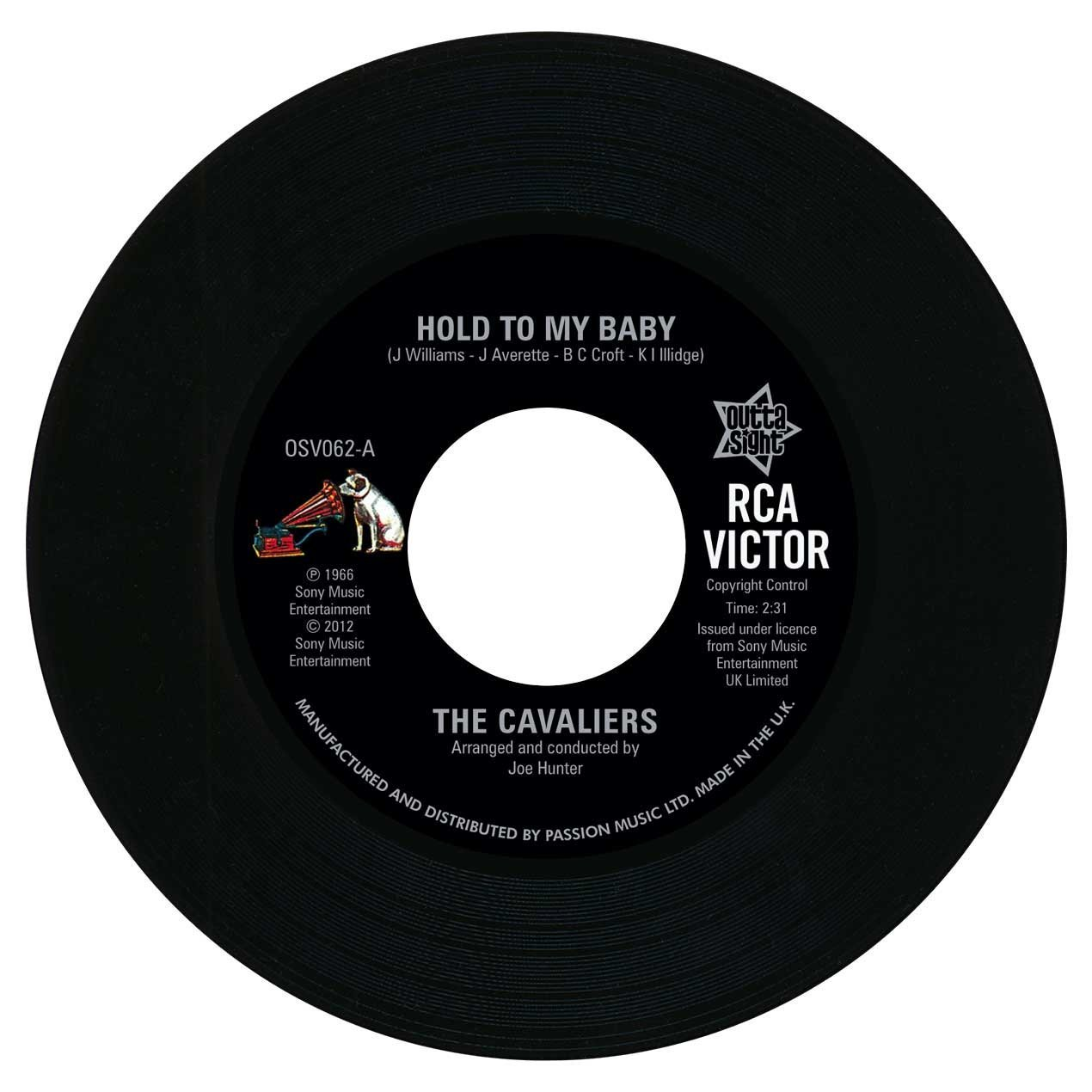 The Cavaliers – Hold To My Baby / Ooh It Hurts Me 45 (Outta Sight) 7″ Vinyl