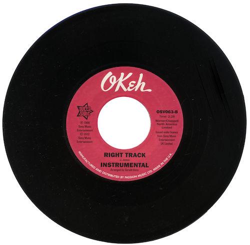 """Billy Butler - Right Track / (Instrumental) 45 (Outta Sight) 7"""" Vinyl"""