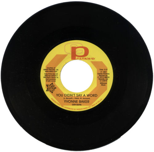 """Yvonne Baker - You Didn't Say A Word / Hattie Winston - Pictures Don't Lie 45 (Outta Sight) 7"""" Vinyl"""