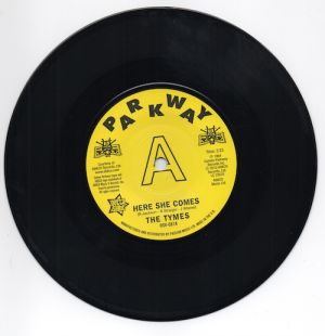 The Tymes - Here She Comes / Anymore DEMO 45