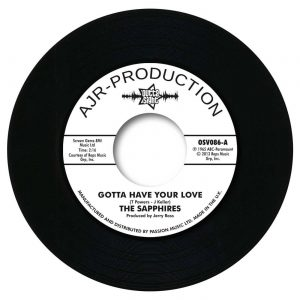 "Sapphires - Gotta Have Your Love / Evil One 45 (Outta Sight) 7"" Vinyl"