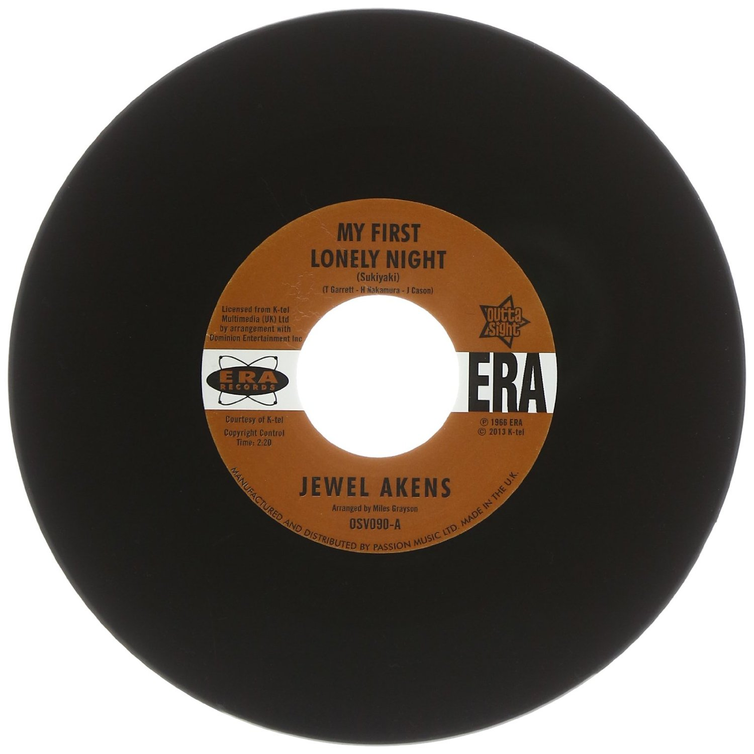 Jewel Akens – My First Lonely Night / A Slice Of The Pie 45 (Outta Sight) 7″ Vinyl