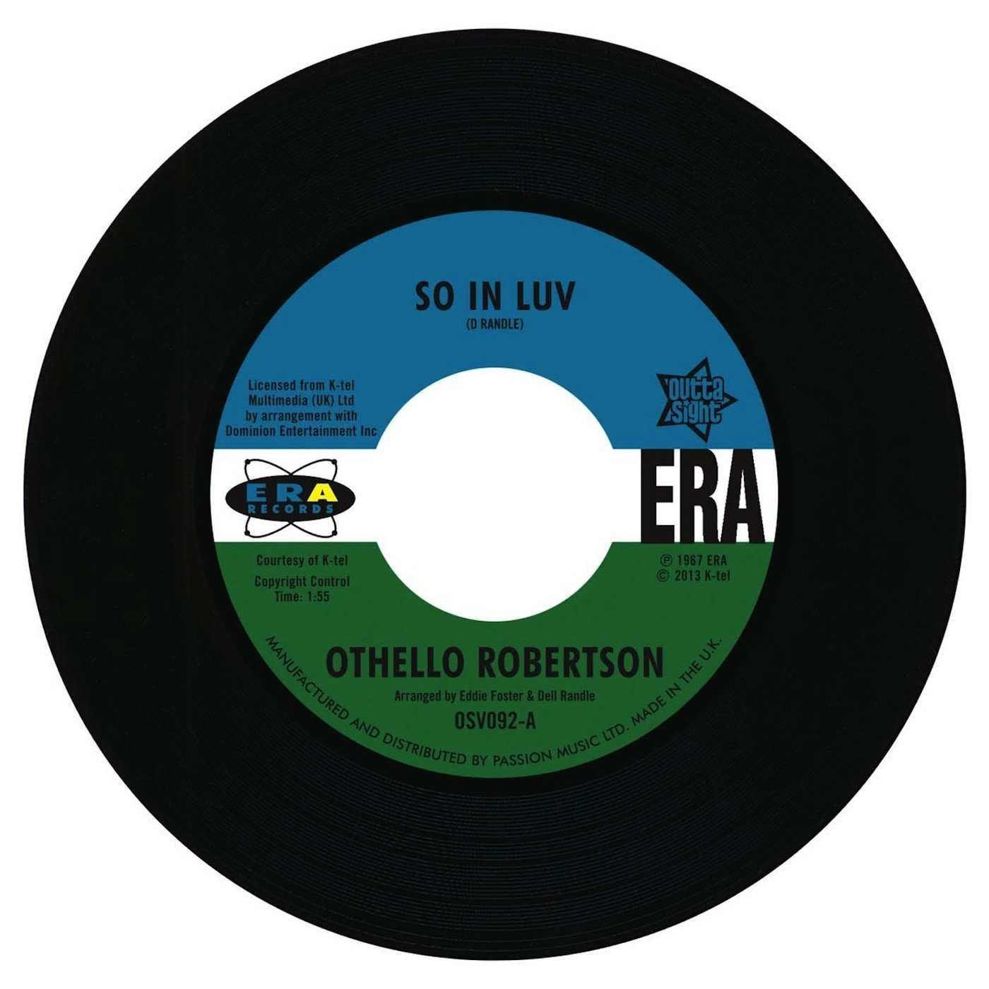Othello Robertson – So In Luv / Steve Flanagan – I've Arrived 45 (Outta Sight) 7″ Vinyl