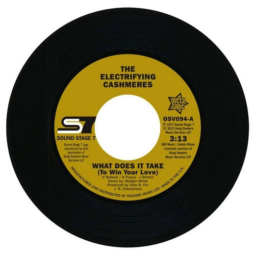"Electrifying Cashmeres - What Does It Take (To Win Your Love) / Continental Showstoppers - Not Too Young 45 (Outta Sight) 7"" Vinyl"