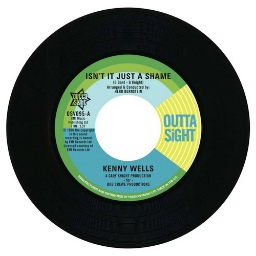 """Kenny Wells - Isn't It Just A Shame / Lainie Hill – Time Marches On 45 (Outta Sight) 7"""" Vinyl"""