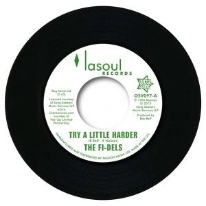 "Fi-Dels - Try A Little Harder / You Never Do Right (My Baby) 45 (Outta Sight) 7"" Vinyl"