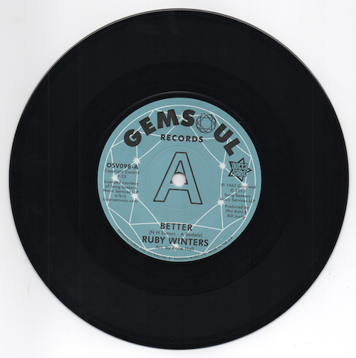Ruby Winters - Better / In The Middle Of A Heartache DEMO 45