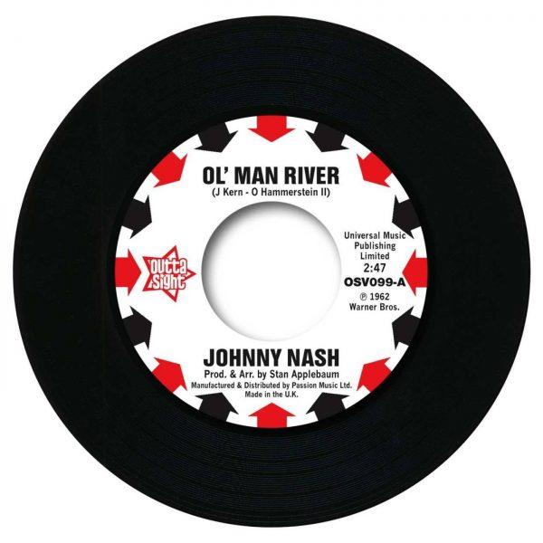 "Johnny Nash - Ol' Man River / I Lost My Baby 45 (Outta Sight) 7"" Vinyl"