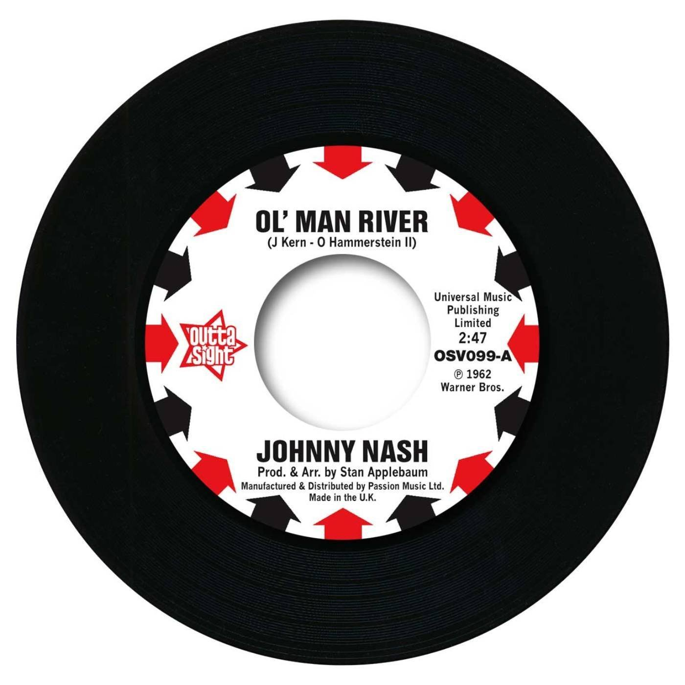 Johnny Nash – Ol' Man River / I Lost My Baby 45 (Outta Sight) 7″ Vinyl