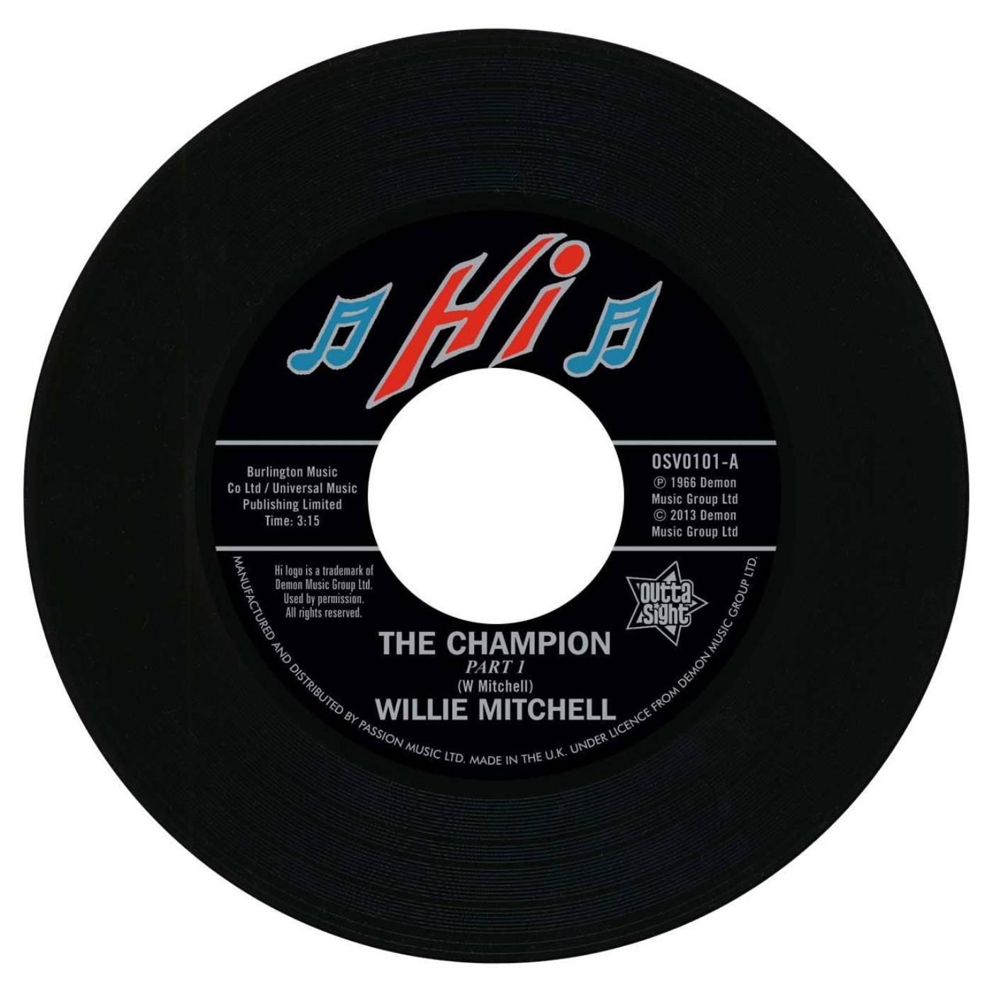 Willie Mitchell – The Champion /  Bill Black's Combo – Little Queenie 45 (Outta Sight) 7″ Vinyl