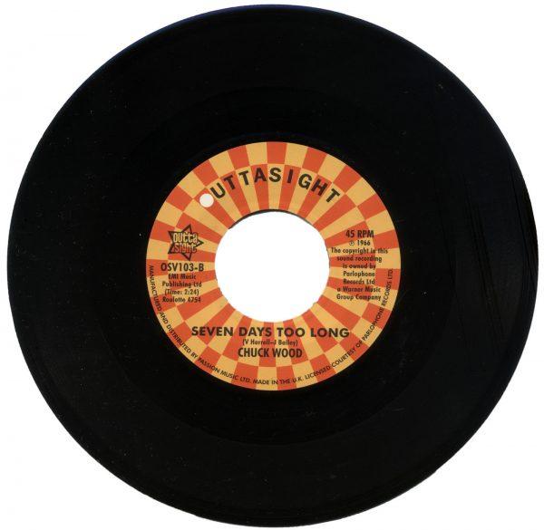 "Casualeers - Dance Dance Dance / Chuck Wood - Seven Days Too Long 45 (Outta Sight) 7"" Vinyl"
