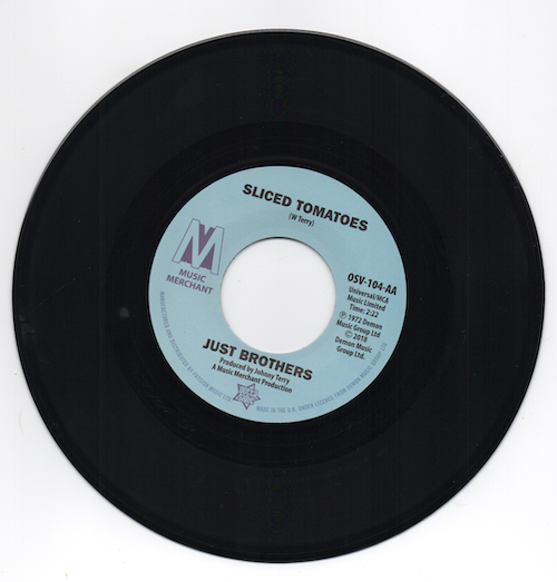 """Just Brothers - Sliced Tomatoes / Eloise Laws - Love Factory 45 (Outta Sight) 7"""" Vinyl"""