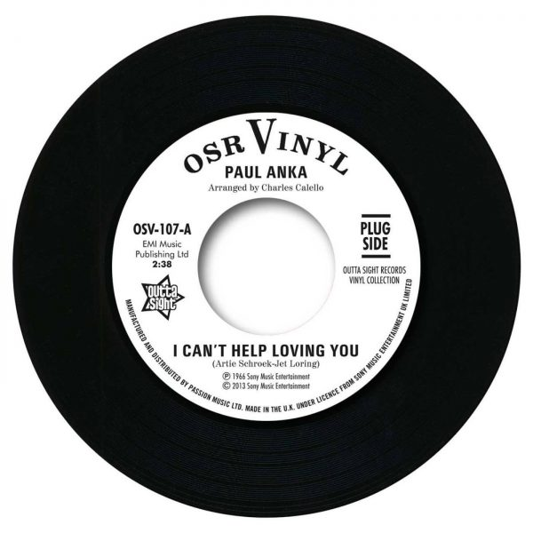 """Paul Anka - I Can't Help Loving You / When We Get There 45 (Outta Sight) 7"""" Vinyl"""