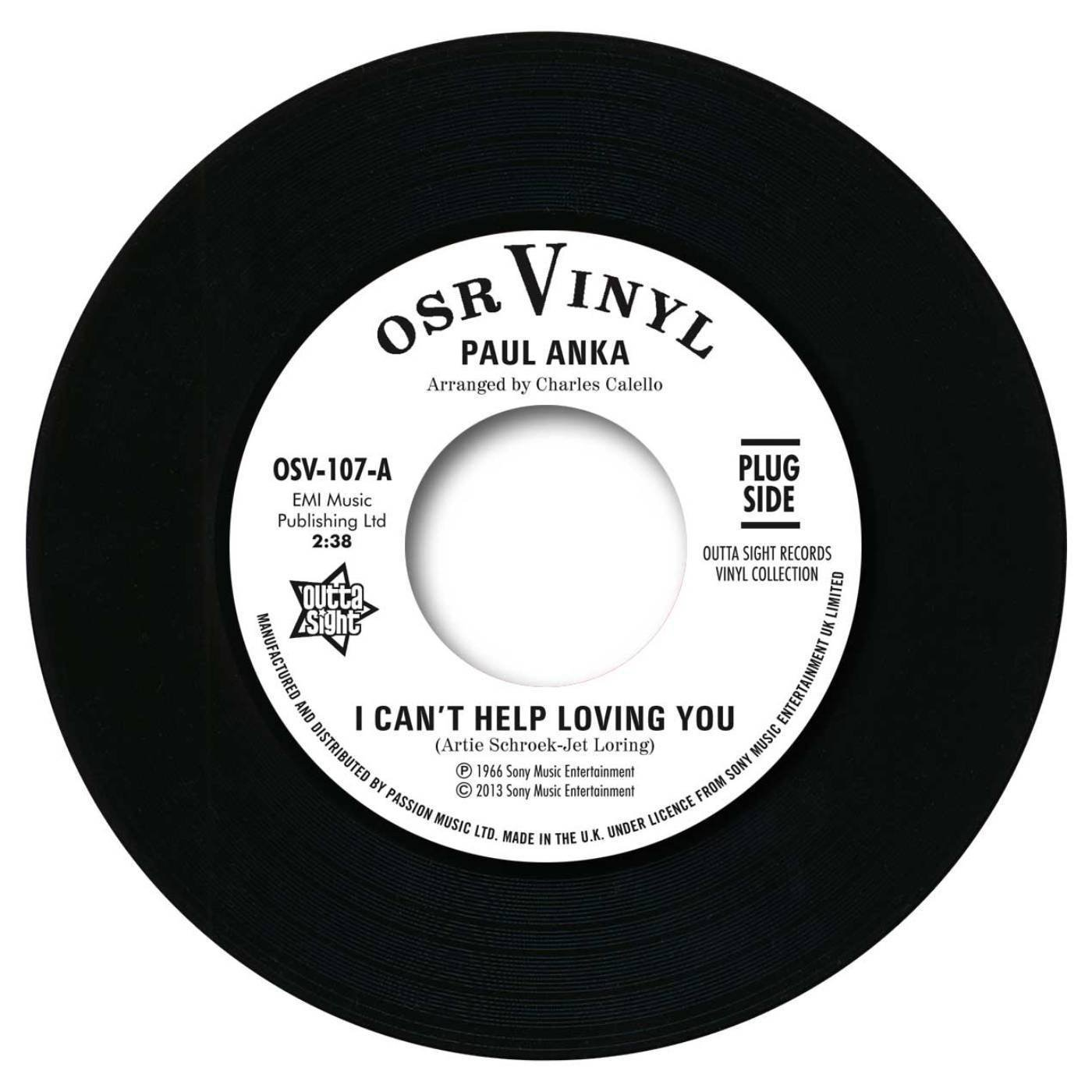 Paul Anka – I Can't Help Loving You / When We Get There 45 (Outta Sight) 7″ Vinyl