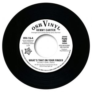 Kenny Carter - What's That On Your Finger / I've Got To Find Her 45