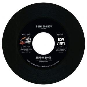 "Sharon Scott - I'd Like To Know / I'm Not Afraid 45 (Outta Sight) 7"" Vinyl"