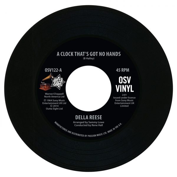 """Della Reese - A Clock That's Got No Hands / Come On - A My House 45 (Outta Sight) 7"""" Vinyl"""