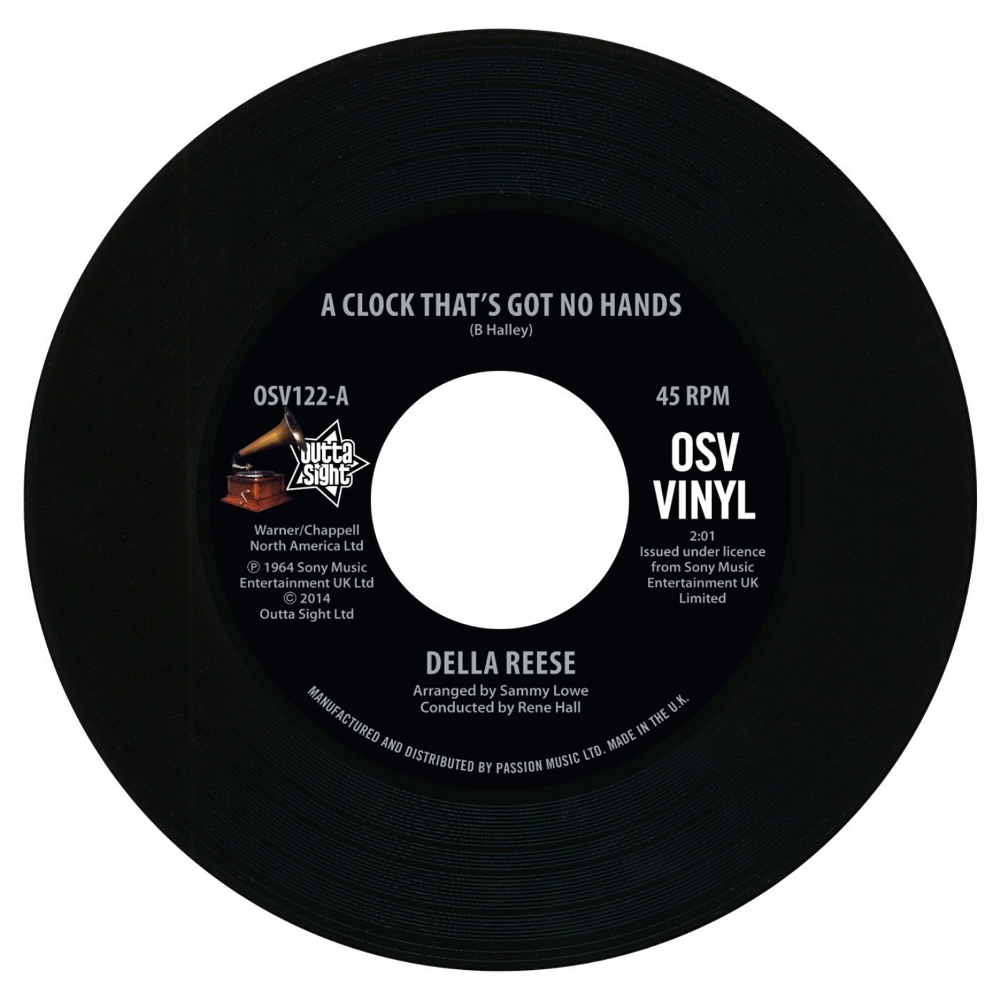 Della Reese – A Clock That's Got No Hands / Come On – A My House 45 (Outta Sight) 7″ Vinyl