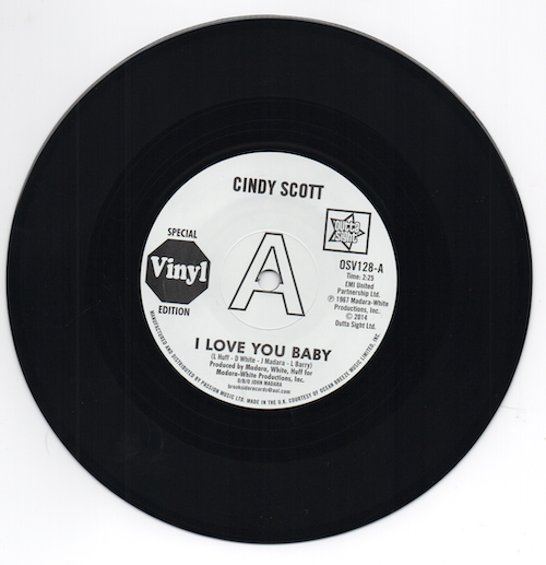 "Cindy Scott - I Love You Baby / In Your Spare Time DEMO 45 (Outta Sight) 7"" Vinyl"