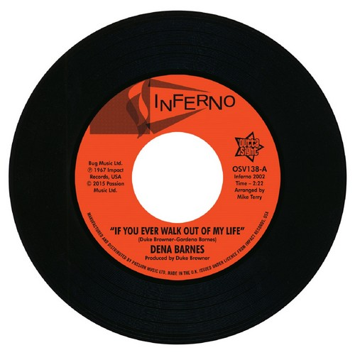 """Dena Barnes - If You Ever Walk Out Of My Life / Who Am I 45 (Outta Sight) 7"""" Vinyl"""
