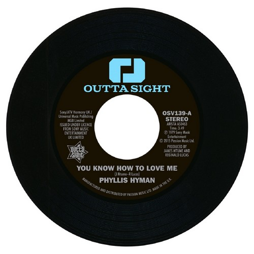 "Phyllis Hyman - You Know How To Love Me / Under Your Spell 45 (Outta Sight) 7"" Vinyl"