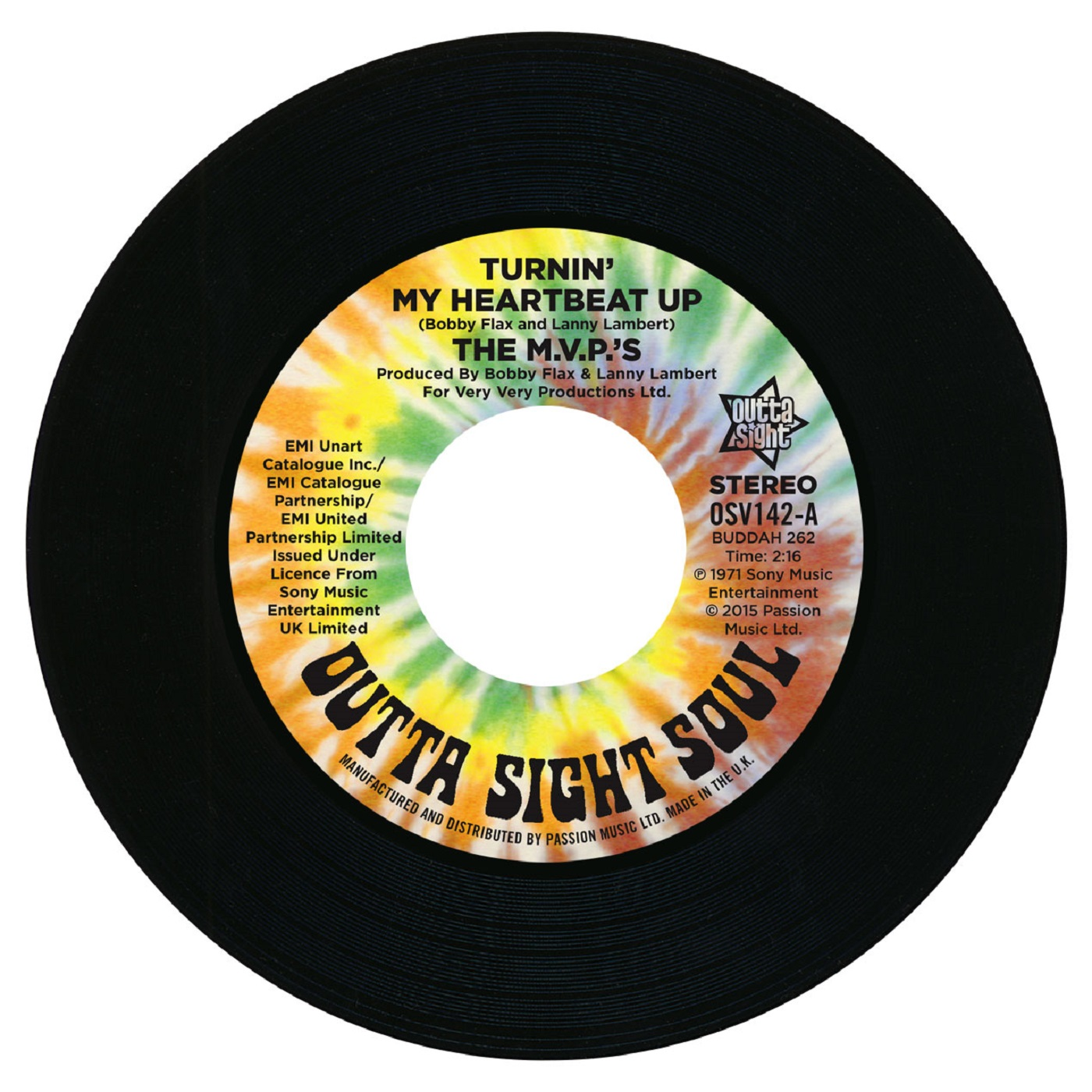 M.V.P's – Turnin' My Heartbeat Up 45 (Outta Sight) 7″ Vinyl