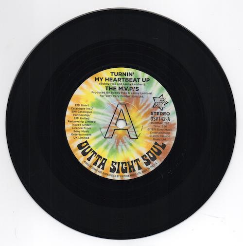 "M.V.P'S - Turnin' My Heartbeat Up (Stereo) / (Mono) DEMO 45 (Outta Sight) MVPs 7"" Vinyl"