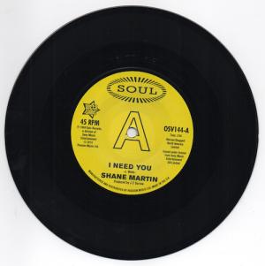 Shane Martin - I Need You / Taj Mahal - A Lot Of Love DEMO 45 (Outta Sight) 7' Vinyl