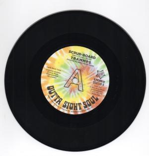 "Trammps - Scrub-Board / Hold Back The Night DEMO 45 (Outta Sight) 7"" Vinyl"