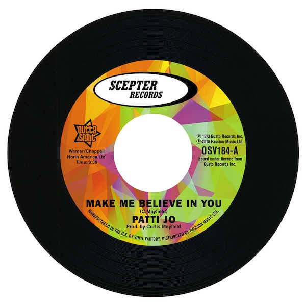"""Patti Jo - Make Me Believe In You / Stay Away From Me 45 (Outta Sight) 7"""" Vinyl"""
