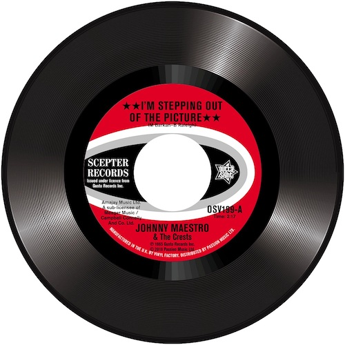 """Johnny Maestro & The Crests - I'm Stepping Out Of The Picture / Afraid Of Love 45 (Outta Sight) 7"""" Vinyl"""