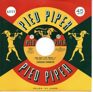 """Lorraine Chandler - You Only Live Twice / Pied Piper Players - Hold To My Baby 45 (Pied Piper) 7"""" Vinyl"""