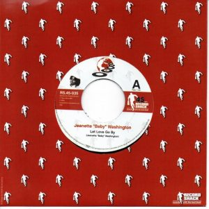 "Jeanette 'Baby' Washington - Let Love Go By / Johnny Williams - Honey Child 45 (Record Shack) 7"" Vinyl"