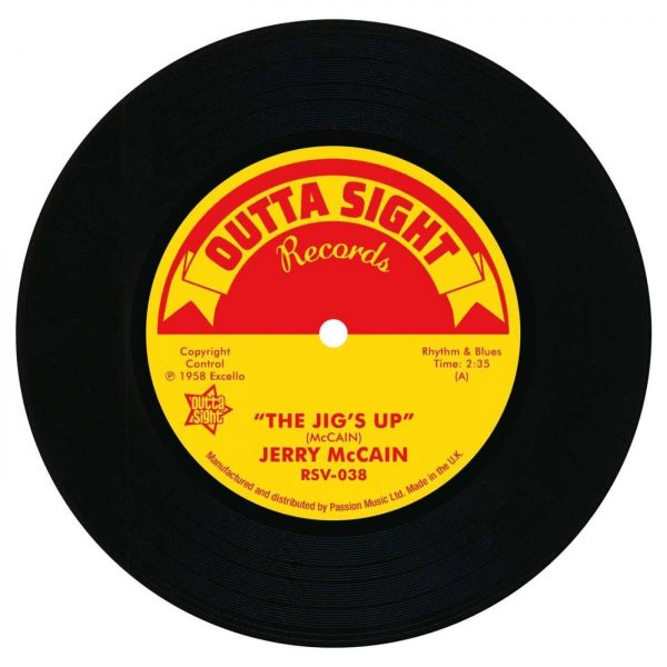 "Jerry McCain - The Jig's Up / Twist 62 45 (Outta Sight) 7"" Vinyl"