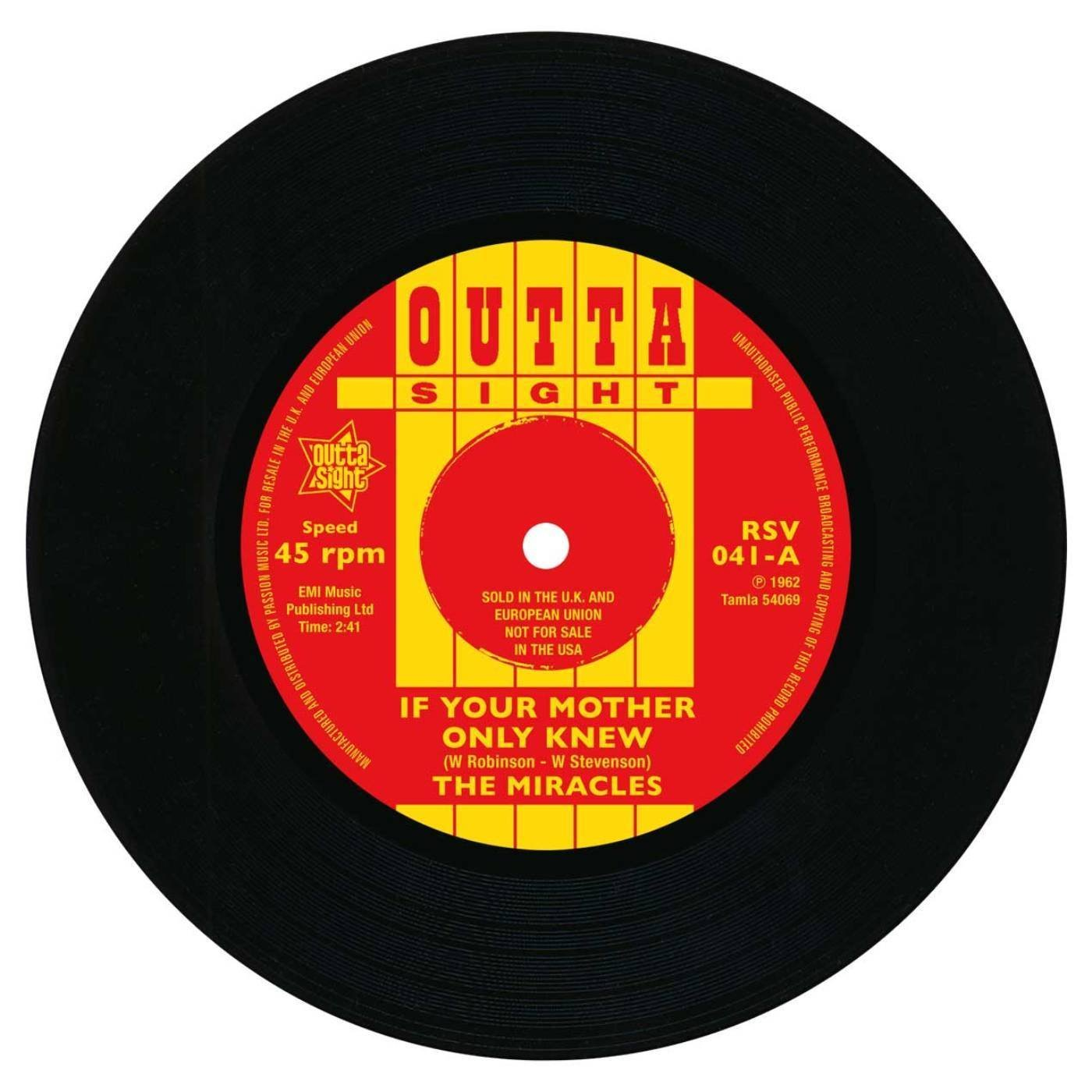 Miracles – If Your Mother Only Knew / That's The Way I Feel 45 (Outta Sight) 7″ Vinyl