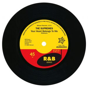 "Supremes - Your Heart Belongs To Me / On Air Interview 45 (Outta Sight) 7"" Vinyl"