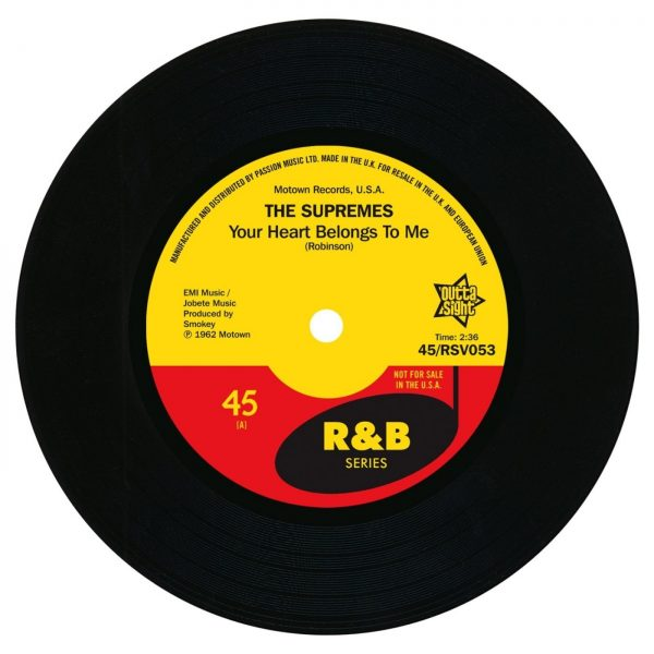 """Supremes - Your Heart Belongs To Me / On Air Interview 45 (Outta Sight) 7"""" Vinyl"""