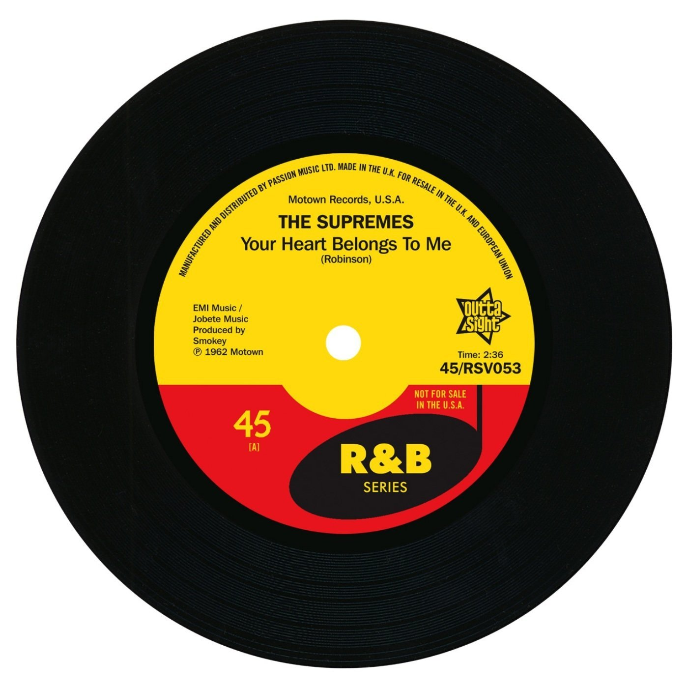 Supremes – Your Heart Belongs To Me / On Air Interview 45 (Outta Sight) 7″ Vinyl