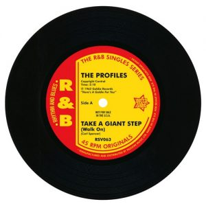 """The Profiles - Take A Giant Step / Johnny Appalachian - Up In Smoke 45 (Outta Sight) 7"""" Vinyl"""