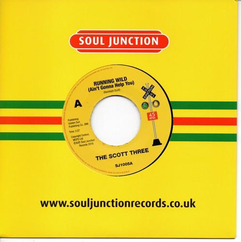 """Scott Three - Running Wild (Ain't Gonna Help You) / Gotta Find A New Love 45 (Soul Junction) 7"""" Vinyl"""