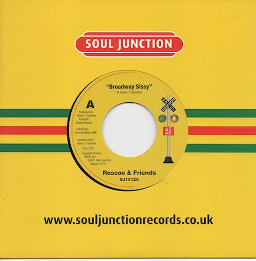 """Roscoe & Friends - Broadway Sissy / Tojo - Broken Hearted Lover 45 (Soul Junction) 7"""" Vinyl"""