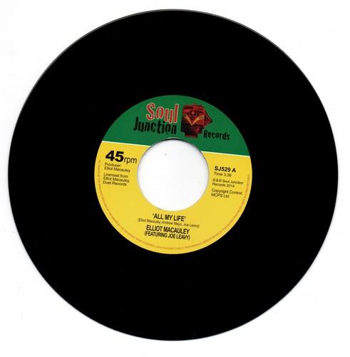 "Elliot Macauley - All My Life / Mamas Baby Boy 45 (Soul Junction) 7"" Vinyl"