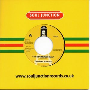 """Dee Dee Warwick - You Tore My Wall Down / Can't It Wait Until Tomorrow 45 (Soul Junction) 7"""" Vinyl"""