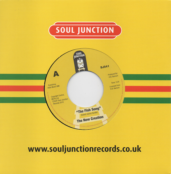 """New Creation - The Fish Song / Elijah Knows 45 (Soul Junction) 7"""" Vinyl"""